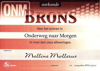 Melline Mollerus in Onderweg naar Morgen